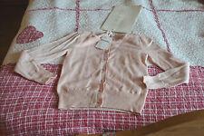 veste cardigan repetto 6 ans neuve rose soala avec voile 5% CASHEMIRE le dernier