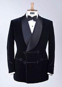 Men Black Velvet Blazer Elegant Luxury Stylish Designer evening Party Wear Coats