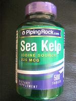 Sea Kelp Iodine Source 225 mcg 500 Pills Tablets
