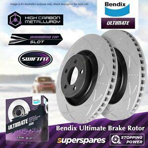 Bendix Ultimate Front Disc Brake Rotors for Toyota Land Cruiser HZJ105 HDJ100