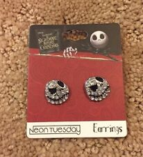 The Nightmare Before Christmas Jack Skellington Bling Stud Earrings NWT!