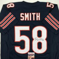 Autographed/Signed ROQUAN SMITH Chicago Blue Football Jersey JSA COA Auto