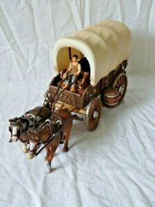 Schleich Figur Pferdewagen Gespan Planwagen ca.35cm lang Aufstellfiguren Sammler