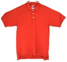 Adidas Climalite Red Mens Size S Small Golf Polo Short Sleeve EUC Logo on Back