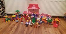 Fisher Price Little People FETE FORAINE Train Maison Sons Batterie figures Lot Bundle