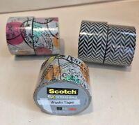 2 Rolls 3M Scotch Expressions Decorative Washi Tape U choose design NEW