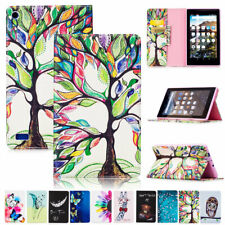 For Amazon Fire 7 & HD 8 8th 7th Generation Leather Flip Stand Tablet Case Cover