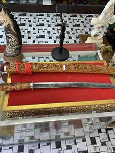 Antique Wood Carving Thai sword