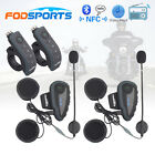 2x V8 NFC 1200M Intercomunicador Interphone Bluetooth Auriculares Interfono Moto