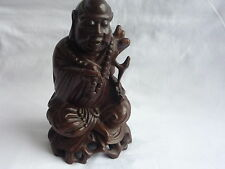 Antique/Old Chinese Wooden Made Hand Carved Buddha Statue Figure