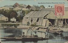 FIJI SUVA BOAT BUILDERS SHEDS ON WATERFRONT ED. BUTLER 10