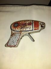 All Litho Tin Sparkling Atomic Gun Space Toy Made in Japan 1960 's