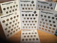 COMPLETE Set Silver/Clad  Roos. Dimes 1946 - 2020 in Full Color EM Coin Folders