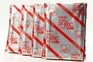 【New Expired 2009/12】 4 Packs FujiFilm FP-100C Instant Color Film from Japan