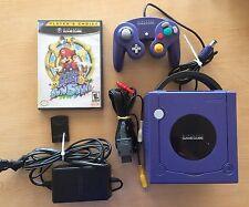 Nintendo GameCube Indigo Console SUPER MARIO SUNSHINE Matching Controller Bundle
