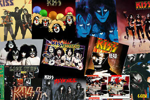 Kiss Collage Rock Band Poster
