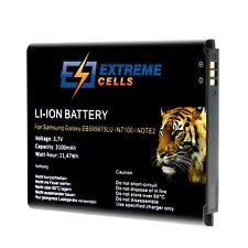 Extremecells Akku für Samsung Galaxy Note 2 II GT-N7100 EB595675LU Batterie