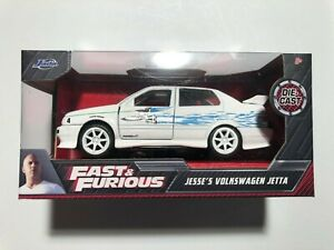 JADA FAST AND FURIOUS - Jesse's VOLKSWAGEN JETTA White - 1:32 Scale - FREE SHIP
