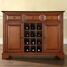 LaFayette Buffet Server/Sideboard Cabinet with Wine Storage, Classic Cherry