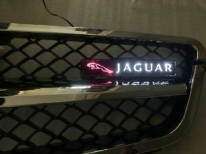 LED Light Front Grille Badge Illuminated Decal Emblem for Jaguar XJ XE XF F