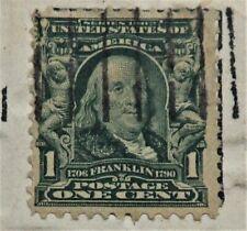 Benjamin Franklin Green Series 1902 1 CENT STAMP-RARE, ANTIQUE, VINTAGE
