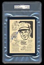 LONNY FREY SIGNED 1977 BOB PARKER REDS CARD PSA/DNA SLABBED AUTOGRAPHED REDS HOF