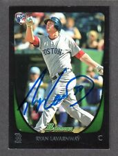 2011 BOWMAN #83  Ryan Lavarnway  RC  BOSTON RED SOX  SIGNED AUTOGRAPH AUTO COA