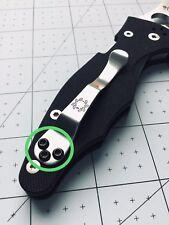 Spyderco Yojimbo 2 Custom Black Big Head Pocket Clip Screws