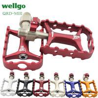 "M111 Wellgo Ultralight Aluminium Bicycle Pedals Quick Release Bearing 9/16"""