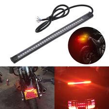 1PC Universal 48 LED Flexible Moto License Plate Tail Brake Stop Light Bar Strip