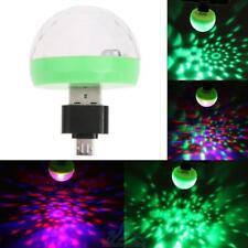 Mini USB RGB LED Bühnenlicht Lichteffekt Birne Licht Lampe Disco+Android Adapter