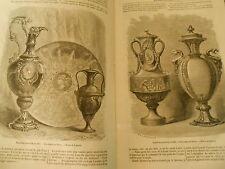 Histoire d'une petite Tasse de vieux Sèvres Gravure Print 1871