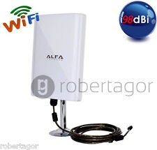 ANTENNA SCHEDA WIRELESS WIFI 150Mbps USB ALTA POTENZA 98dBi PC FISSI NOTEBOOK