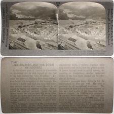 Keystone Stereoview of Surface Mining, Eisenerz, AUSTRIA From RARE 1200 Card Set