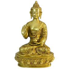 Figura latón Buda 27 cm estatua Hinduismo deidad hindú India decoración