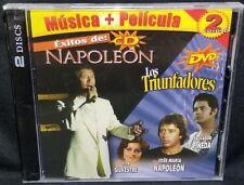 Exitos De Napoleon CD + Los Triunfadores DVD Music + Movie 2 Disc Set - NEW
