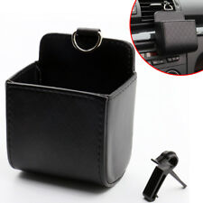 Universal Car Air Vent PU Leather Organizer Storage Box Phone Pocket Bag Holder