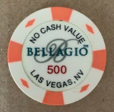 Las Vegas Bellagio Casino 500 NCV Chip — World Poker Tour Use — Live Chip