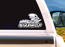 "SPEEDY GONZALES ""NO QUEMA CUH"" WHITE DECAL FOR WINDOW CAR  9.5"""