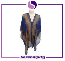 Blue Long and Soft Pure Silk Scarve/Shawl