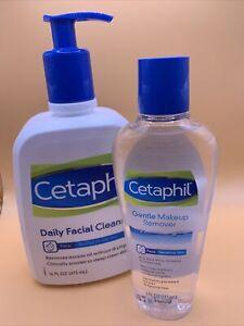 Cetaphil Bundle: Gentle Makeup Remover, 6 Fl Oz & Daily facial Cleanser 16 Fl Oz
