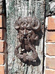 Gusseisen Türklopfer Devil, Teufel braun