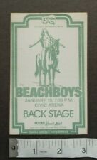 Beach Boys,Original 1970's Backstage pass,Jan 19th,Pgh Civic Arena