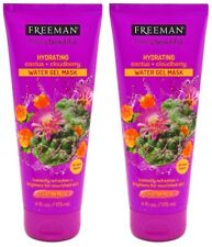 Freeman Hydrating Water Gel Mask 6 oz Cactus and Cloudberry -Lot of 2