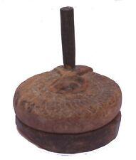 Indian Old Vintage Hand Carved Wooden Samll Atta Chaki Hand Ghatoliya Wd 175