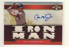 Cal Ripken Jr. 2011 Topps Triple Threads IRONMAN Autograph / Jersey 11/18
