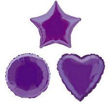 Purple Star 20 Inch Foil Balloon
