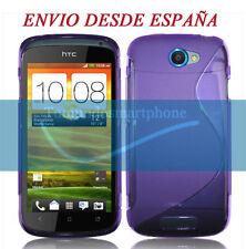 FUNDA GEL TPU MORADA HTC ONE S MODELO S LINE