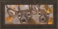 """UP CLOSE AND CURIOUS"" by Jerry Gadamus FRAMED PRINT Deer Buck Doe L/E S/N"