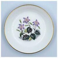 Pin Dish Royal Worcester Bone China Alpine Flowers Coaster Tea Bag Holder